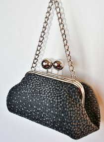 Big Bobble Clutch Grey Dotty