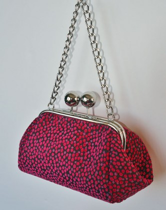 Big Bobble Clutch Pink Dotty