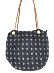 Bonnie Bucket Charcoal Dotty