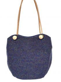 Limited Edition Harris Tweed Bonnie Bucket Purple Green Twist
