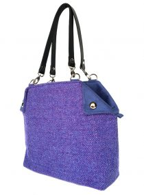Limited Edition Harris Tweed Feerie Flapper Purple Light Blue Herringbone