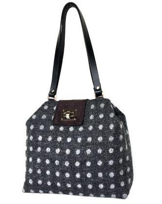 Charcoal Dotty Sonsie Shopper