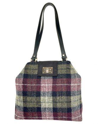 Limited Edition Harris Tweed Sonsie Shopper Sage Mulberry
