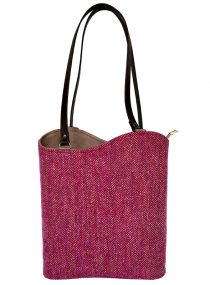 Two Way Toonie Harris Tweed Limited Edition Raspberry Herringbone